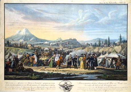 Քառասուն հազար հայերի գաղթը Պարսկաստանէն դէպի Կովկաս Հեղինակ՝ Վլադիմիր Մոշկով (1792-1839)